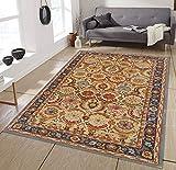 Allen Home Wool Rug 3'X5' 2.5X9' 5'X8' 8'X10' 9'X12' Alvira Beige Tufted Art and Crafts Persian Traditional Wool Rug Carpet (8'X10')