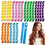 STAR WORK - 14pcs Hair Curlers Spiral 30 cm Curls Styling Kit, No Heat Hair Curlers,Hair Rollers Wave Styles,Heatless Spiral Curlers for Women Girls Short Long Hair Styling Tools (HAIR WAVING)