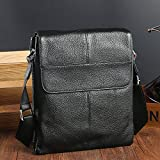 JPDP Real Leather Bag Men Briefcase Maletin Hombre Portfolio Work Bag Business Brief Case Thin Small Shoulder Bag Bolso Hombre Cover Black