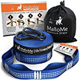 XL Hammock Straps - Hammock Tree Straps Set Versatile 2000+ LBS Heavy Duty 26 Loops & 100% No Stretch Suspension System Kit - Camping Hammock Accessories | 2 Carabiners