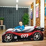 Lit pour enfant ou bébé en forme de voiture avec matelas, de qualité...