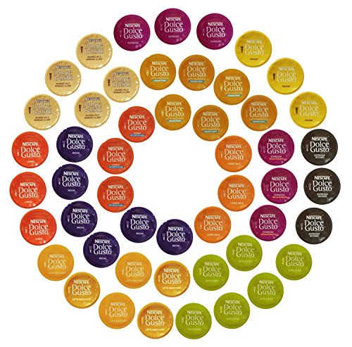 Nescaf Dolce Gusto Capsules All-inclusive Set, 50 Capsules - Variety Pack - Gift Wrap Available!