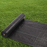 OLYM STORE Weed Control Barrier, Garden Landscape Fabric, Woven Ground Cover, 3.7OZ Heavy Duty Material for Superior Weed Block, Perfect for Greenhouse, Yard, Flower Bed, Garden (3 x 100 FT)