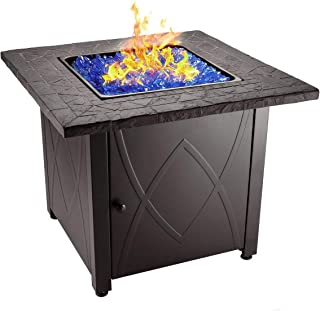 """Endless Summer 30"""" Outdoor Propane Gas Fire Pit Table (Blue Fireglass)"""