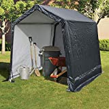 Quictent Storage Shelter 6 x 6- Feet Outdoor Carport Shed Heavy Duty Car Canopy Grey