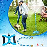 YuYo Mister System, Three-Nozzle Stand Misting Cooling System Upgrade Misters for Outside Patio Mister Outdoor Flexible Mister for Patio Pool BBQ Cooling Kids Water Playing