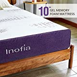 Inofia 10 Inch Gel Memory Foam Mattress Full, GELEX Bed Mattress in a Box, Sleep Cooler | Medium Firm Feel, Cloud-Sleep, Multi-Layer Supportive for Pressure Relief, 100-night Sleep Trial