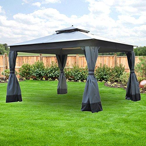 Garden Winds Replacement Canopy for Allen Roth Finial Gazebo - Riplock 350 - Beige