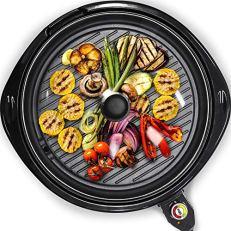 "Maxi-Matic Elite Gourmet EMG-980B Indoor Electric Grill, 14"" Round, Black"