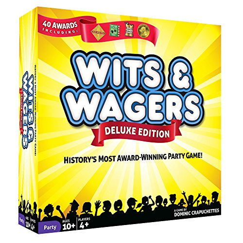 North Star Games Wits & Wagers Board Game   Deluxe Edition, Kid Friendly Party Game and Trivia