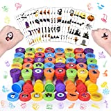 192 PCs Halloween Stamps for Kids, Assorted Stamps and Stickers for Halloween Party Favors, Goodie Bag Fillers and Pinata Fillers