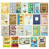 Hallmark All Occasion Handmade Boxed Set of Assorted Greeting Cards with Card Organizer (Pack of 24)—Birthday, Baby, Wedding, Sympathy, Thinking of You, Thank You, Blank