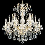 Schonbek 1712-23 Century 12-Light Chandelier in Etruscan Gold with Clear Heritage Crystal