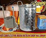 Hoppy Kit Completo Birra All Grain Pentola 50 Lt Filtrante + Serpentina Inox + Mulino