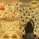 10M 100LED Guirlande Lumineuse Interieur Photo Chambre LED, Decoration Chambre,...