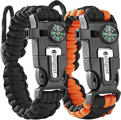 aZengear Bracelet de Paracorde et Survie pour Homme Femme - Militaire Kit...