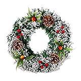 Corona de Navidad de 20/30/40 cm – Guirnalda de Navidad artificial para colgar, corona de piña de Navidad