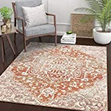 Well Woven Micah Terracotta Red Vintage Medallion Area Rug 5x7 (5'3' x 7'3')