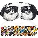 Sleep Mask David Michelangelo Masterpieses for Men - 100% Soft Cotton - Comfortable Eye Sleeping Mask Night Cover Blindfoldfor Travel Airplane (David, Plastic Pack)