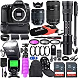Canon EOS 80D DSLR Camera Kit with Canon 18-55mm & 55-250 STM Lenses + 420-800mm Telephoto Zoom Lens...