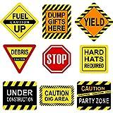 Blulu Décorations de Fête à Thème de Construction, Panneaux de Signalisation de Tra