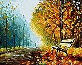 Fuumuui Peinture Au Numéro Kits, Numéro d'art, Tableau à Dessin,Peinture par numéros,Peinture à l'huile par numéros, Peintures Acryliques pour Enfants Adultes sans Cadre -Park 40 x 50 CM
