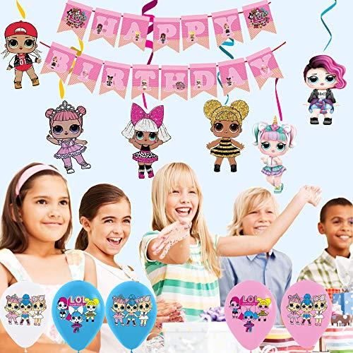 Image 4 - smileh Lol Anniversaire Décoration Lol Ballon Bannière de Joyeux Anniversaire de Lol Tourbillons Suspendus de Lol Surprise Dolls pour Fête d'anniversaire ou Fête d'anniversaire