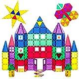 Ensemble 100 pièces Playmags avec les aimants les plus puissants - Robuste, super durable avec des carreaux magnétiques de couleur vive éclatante - Accessoires Clickins de 18 pièces pour améliorer vot