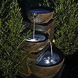 CLGarden NSP12 Fontaine solaire avec batterie et éclairage LED pour...