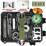 Kit de survie d'urgence Multi-outils 19en1 Avec Trousse de Premiers...