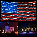 KEYOLA American Flag Lights Outdoor for Yard,Garden, 4th of July Decorations