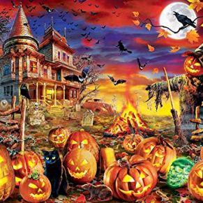 Puzzles De Halloween Que Brilla En La Oscuridad Jigsaw, Víspera De Todos Los Santos, 1000 Piezas De Juego Ilustraciones…