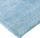Home Must Haves Shadow 3 Area Contemporary Modern Hand-Tufted Light Blue Solid Silk Carpet Rug for Living Room Bedroom Kitchen Hallway-5'3' x 7'3'