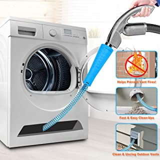 Dryer Vent Cleaner Kit Vacuum Hose Attachment Brush Lint Remover Power Washer and Dryer..