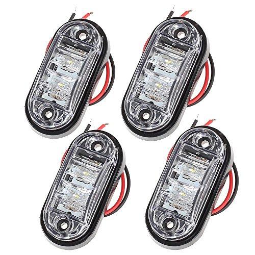 Proster 4 PZ Luce Laterale da Camion Indicatore Anteriore LED Lampada di Posizione per Camion...