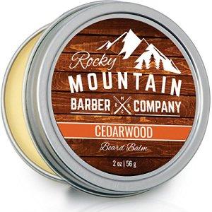 Beard Balm - Rocky Mountain Barber - 100% Natural - Premium Wax Blend with Cedarwood Scent, Nutrient...