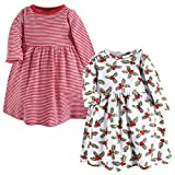 Hudson Baby Baby and Toddler Girl Cotton Dresses, Holly, 4 Toddler