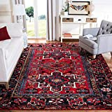 Safavieh Vintage Hamadan Collection VTH211A Oriental Traditional Persian Non-Shedding Stain Resistant Living Room Bedroom Area Rug, 6'7' x 9', Red / Multi