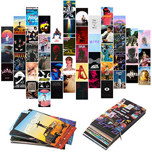 YINGENIVA 50PCS Album Cover Aesthetic Pictures Wall Collage Kit,...