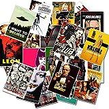 TTBH Pegatinas Impermeables para Equipaje Laptop Art Painting Pulp Fiction Poster Stickers Skateboard25Pcs / Set