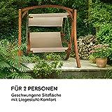 Gartenschaukel Hängesessel Hollywoodschaukel Sitzfläche praktisches Sonnendach - 2