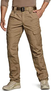Men's Tactical Pants, Water Repellent Ripstop Cargo Pants, Lightweight EDC Hiking..