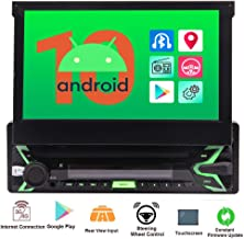 Single Din Car Radio Android 10.0 Q OS Car Stereo with 7'' Capacitive Touch..