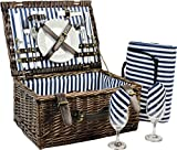 INNO STAGE Wicker Picnic Basket for 2, Picnic Set for 2,Willow Hamper...