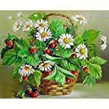 Small Strawberry Basket, Full Drill Cinhent 5D Diamond Painting Embroidery Rhinestone Pasted DIY Cross Stitch Home, Bedroom, Living Room, Wall/Door Art Decor - 40 × 30CM
