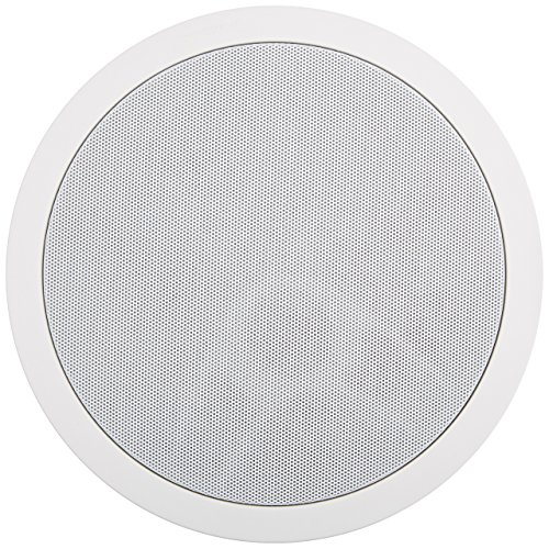 Polk Audio MC80 2-Way In-Ceiling 8' Speaker (Single) | Dynamic Built-In Audio | Perfect for Humid Indoor/Enclosed Areas | Bathrooms, Kitchens, Patios,White