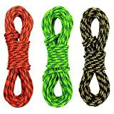 GM CLIMBING Pack De 3 Double Tresse 3mm (1 / 8in) Faible Stretch 400lb...