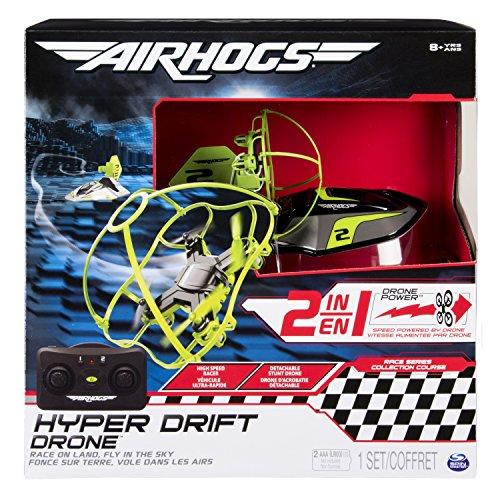 Air Hogs- Hyper Drift Drone R/C, Colore Verde, 6040304