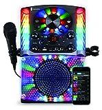 Singing Machine SML625BTBK Bluetooth CD+G Karaoke System Black