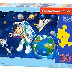 Castorland Space Walk 30 pcs Contour puzzle 30 pieza(s) - Rompecabezas (Contour puzzle, Dibujos, Niños, Niño/niña, 4 año…